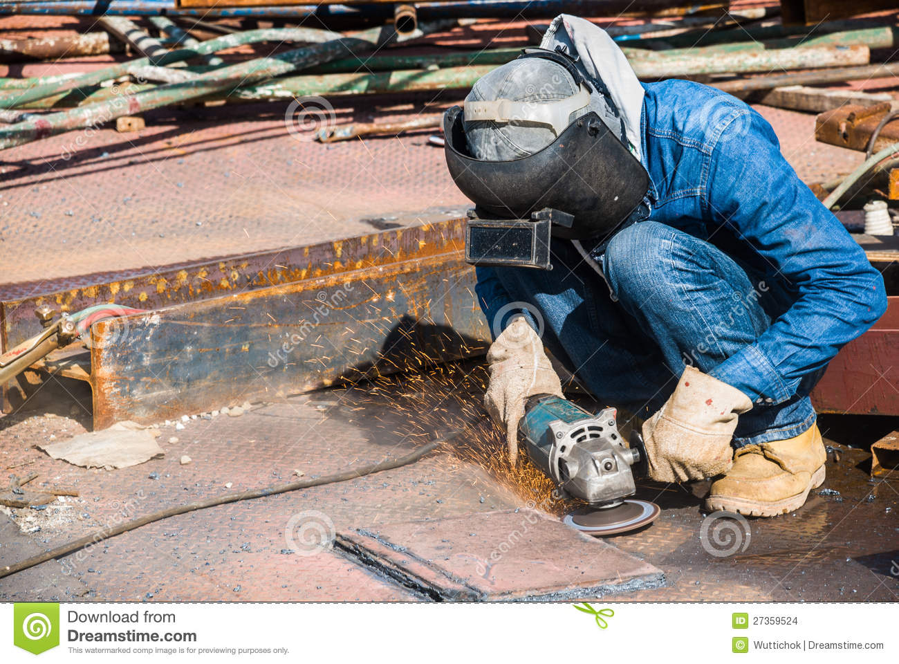 Professional worker in construction industry