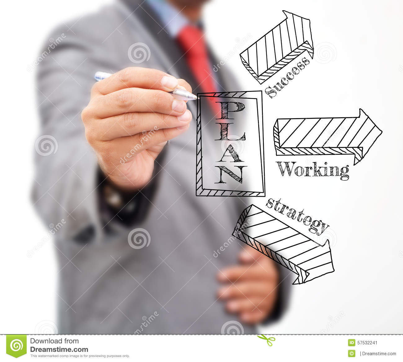 Professional Writing A Plan Stock Photo - Image: 57532241