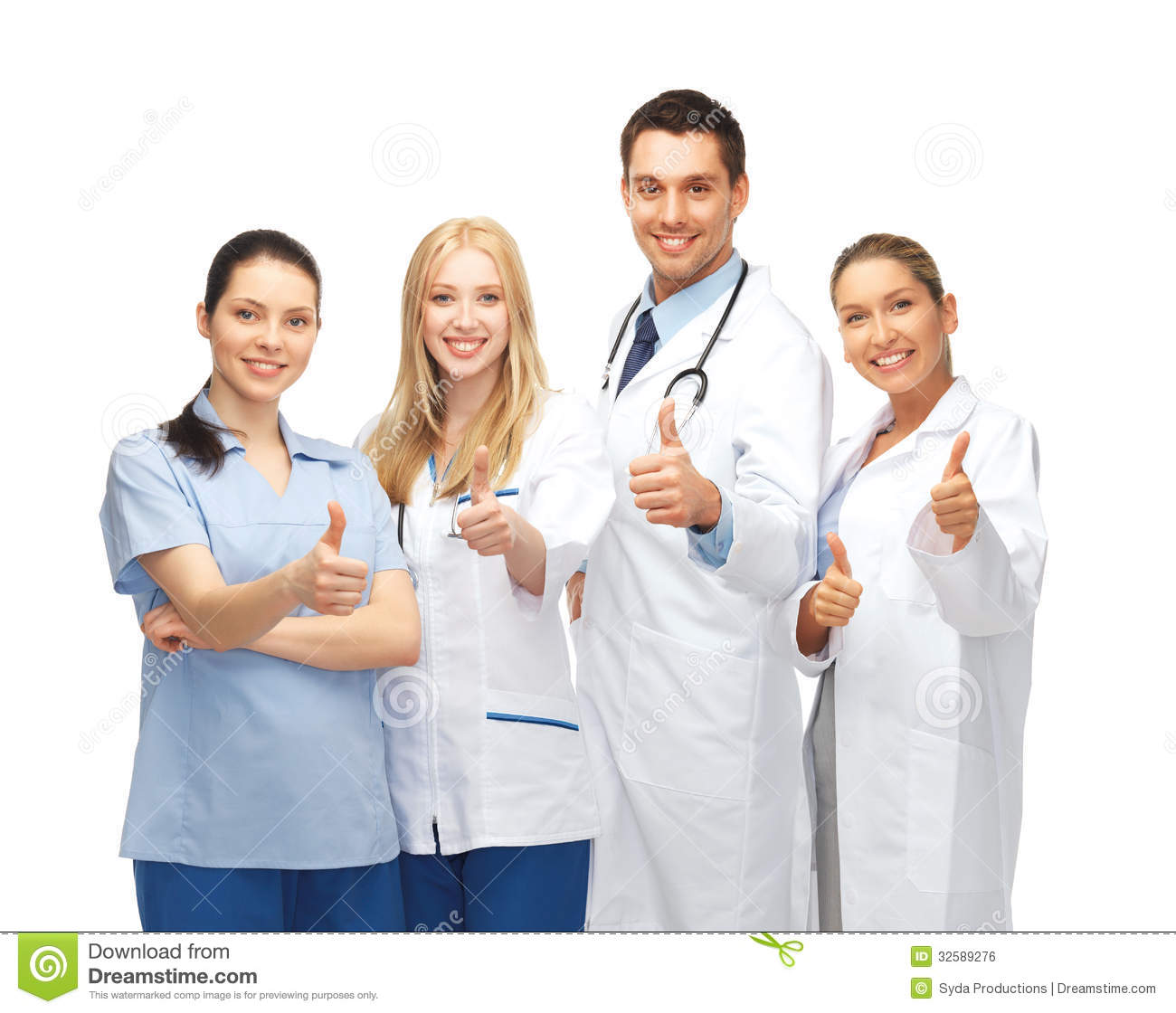 Professional Young Team Or Group Of Doctors Royalty Free Stock Image ...