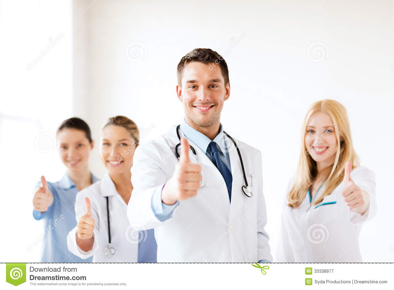 Professional Young Team Or Group Of Doctors Royalty Free ...