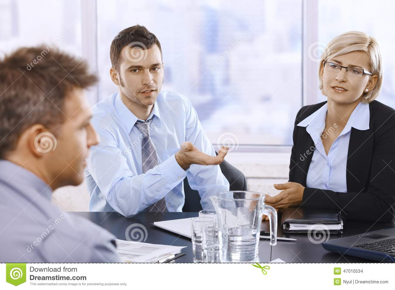 Professionals At Discussion Stock Photo - Image of ...