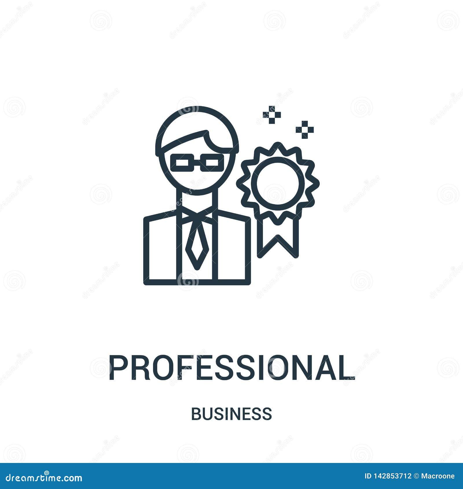 Professionele pictogramvector van bedrijfsinzameling Dunne het pictogram vectorillustratie van het lijn professionele overzicht L