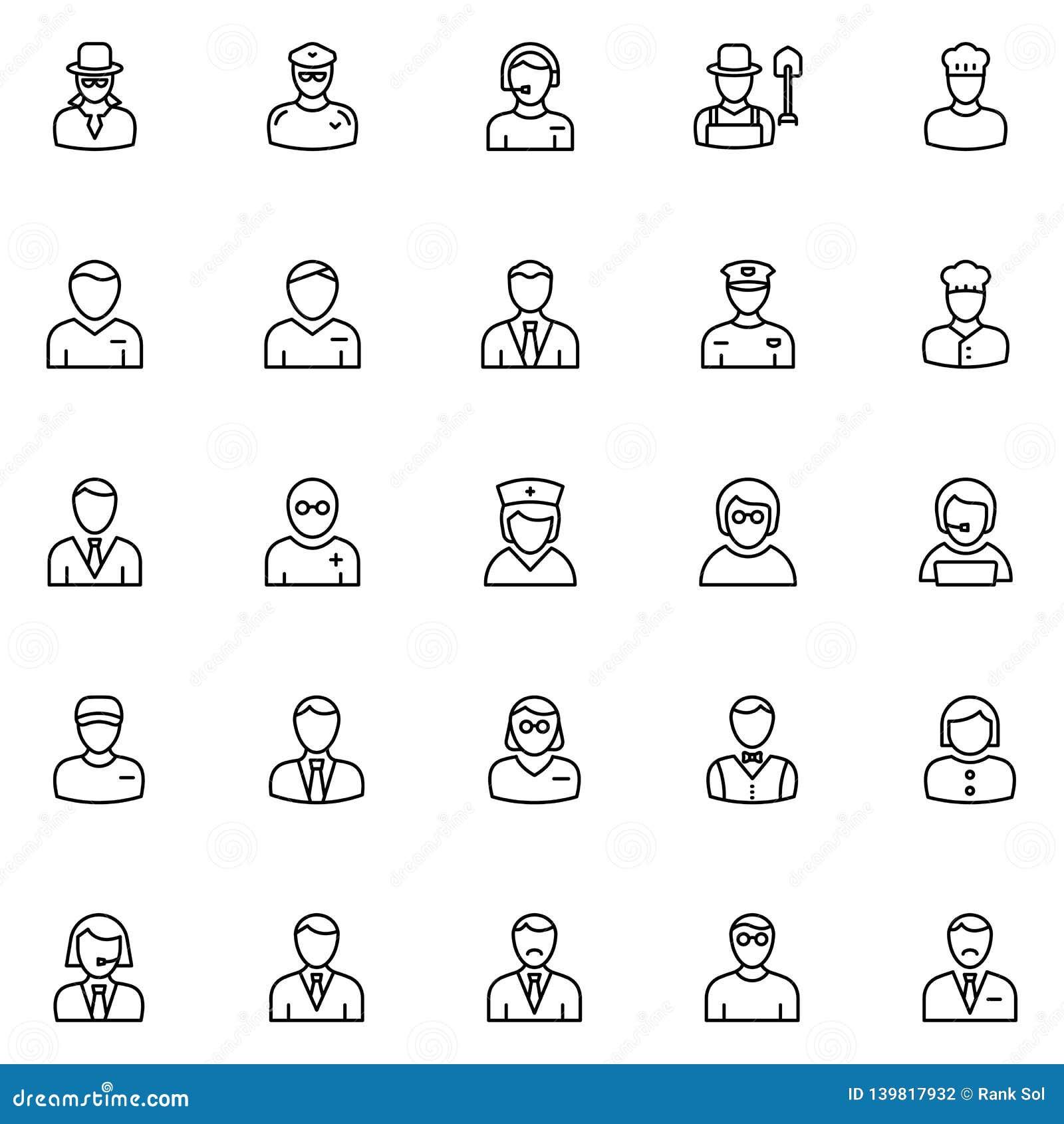Professionele Vector Geplaatste Pictogrammen die zich gemakkelijk kunnen wijzigen of uitgeven