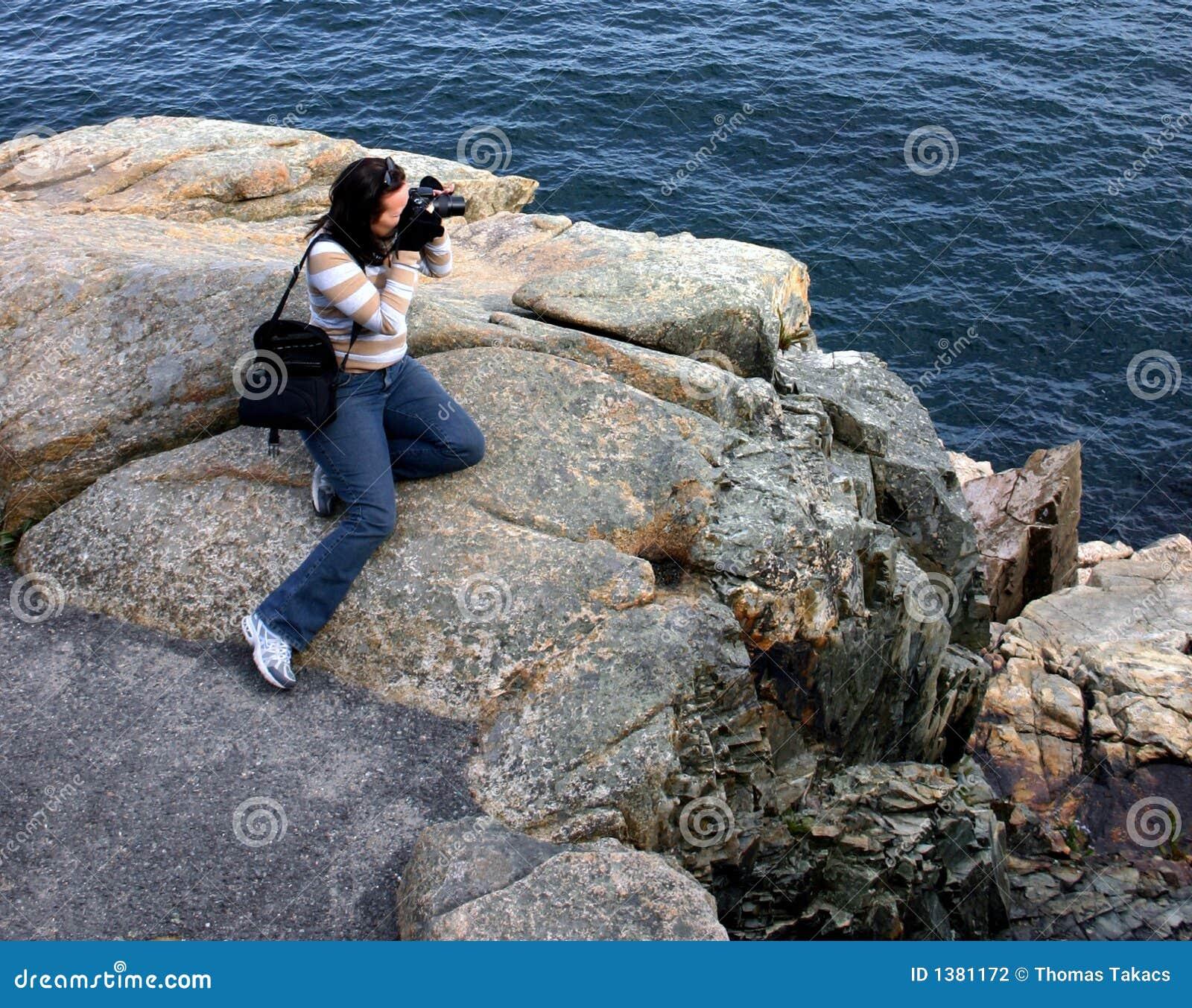 Professioneller weiblicher Fotograf