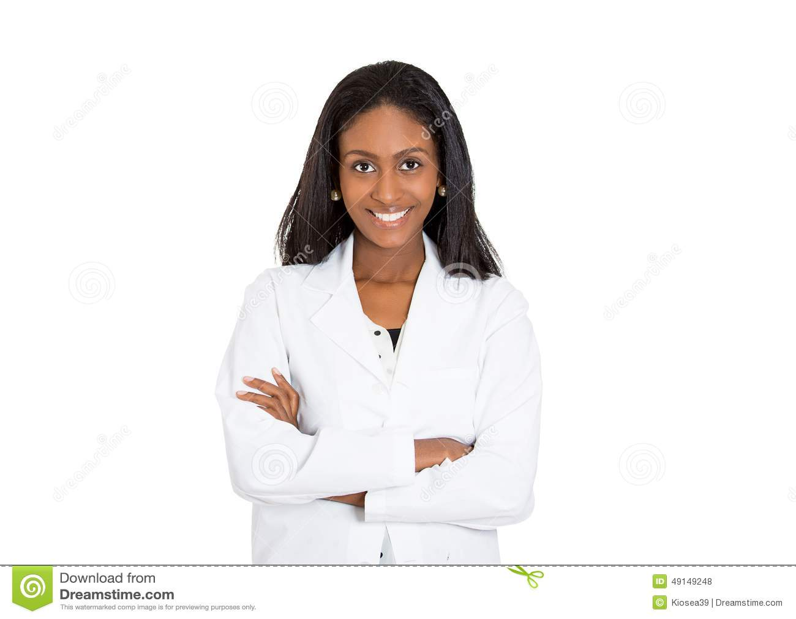 Professionista femminile sicuro amichevole e sorridente di sanità