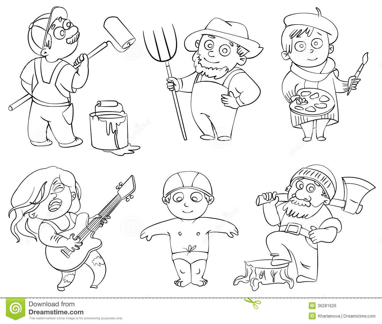 jobs and occupations coloring pages - photo#10