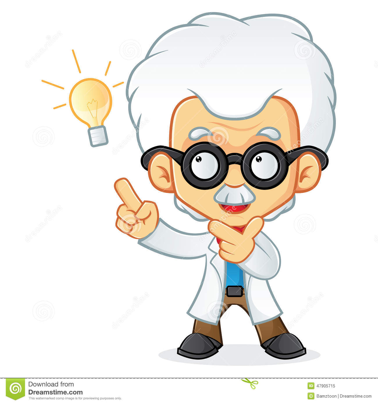 Professor Having Idea Stock Vector - Image: 47905715