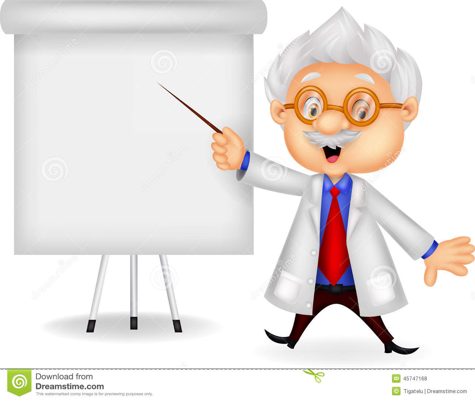 Professor Cartoon Teaching Stock Vector Image 45747168