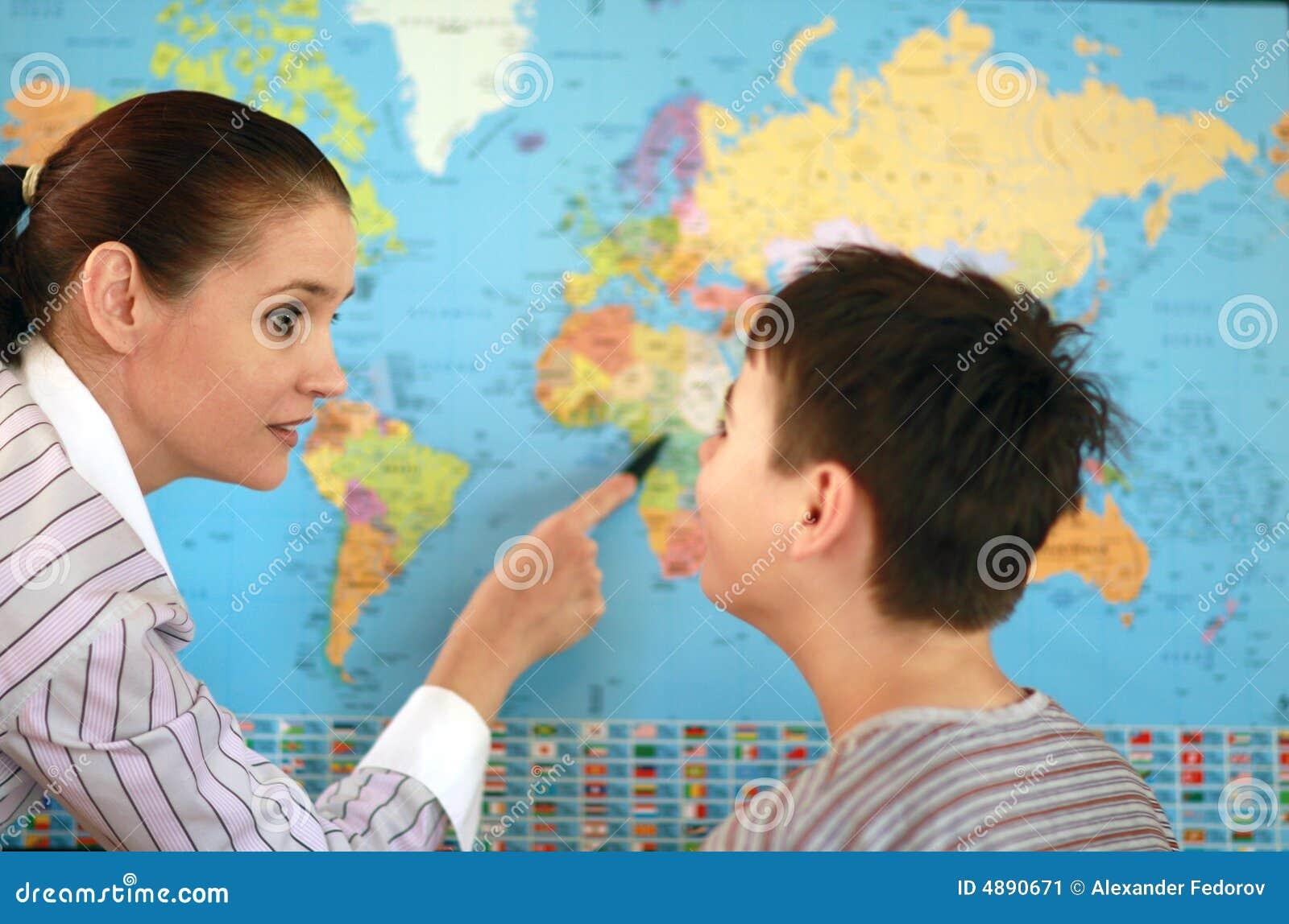 Professor Da Geografia Imagem de Stock - Imagem: 4890671