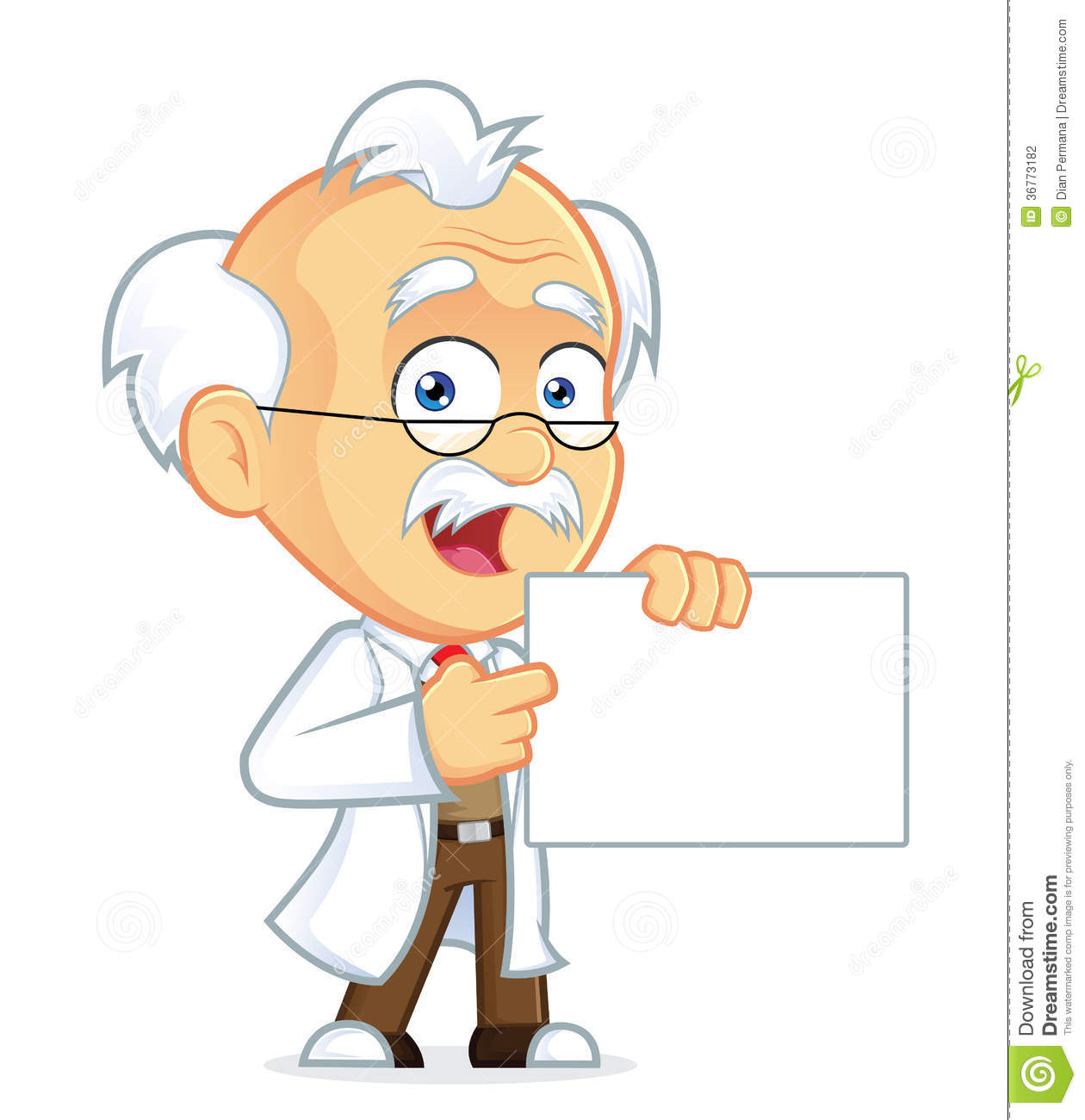 Professor Holding A Sign Stock Photography - Image: 36773182