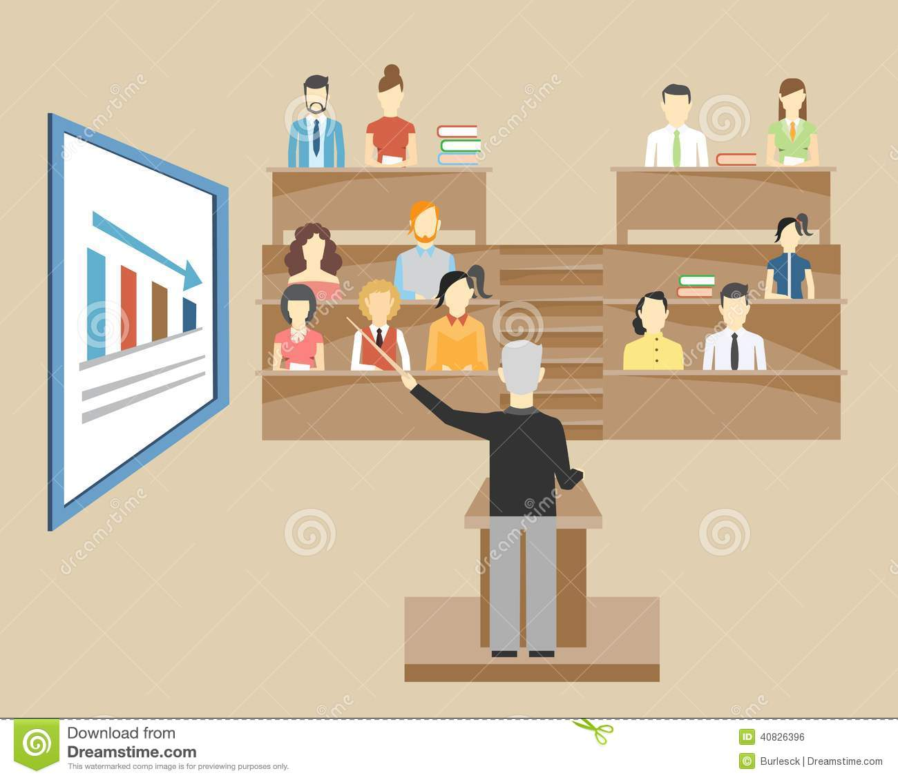 A Vector Illustration Of College Students In Classroom Royalty Free Cliparts,  Vectors, And Stock Illustration. Image 109077325.