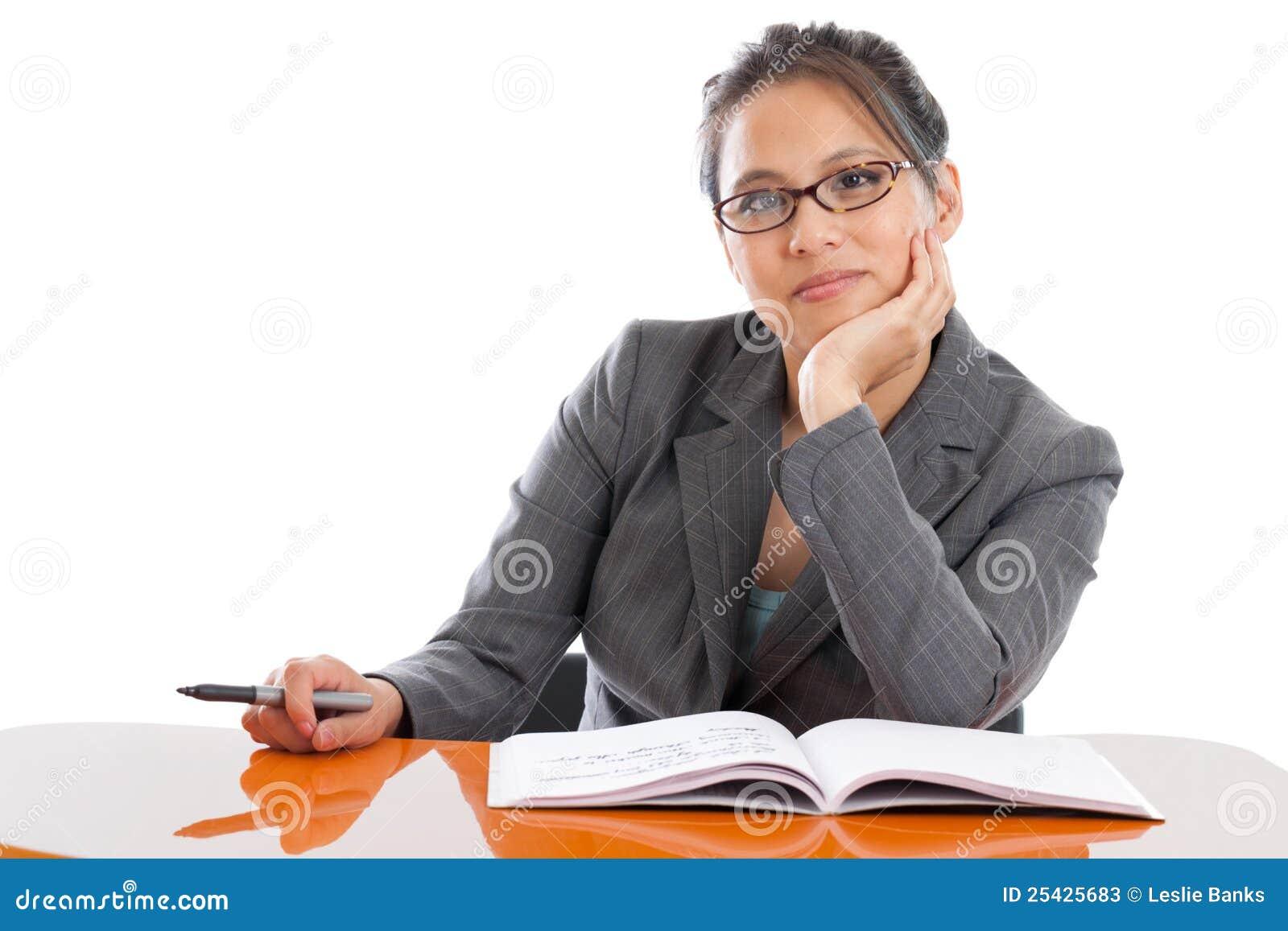 Professor på ett skrivbord