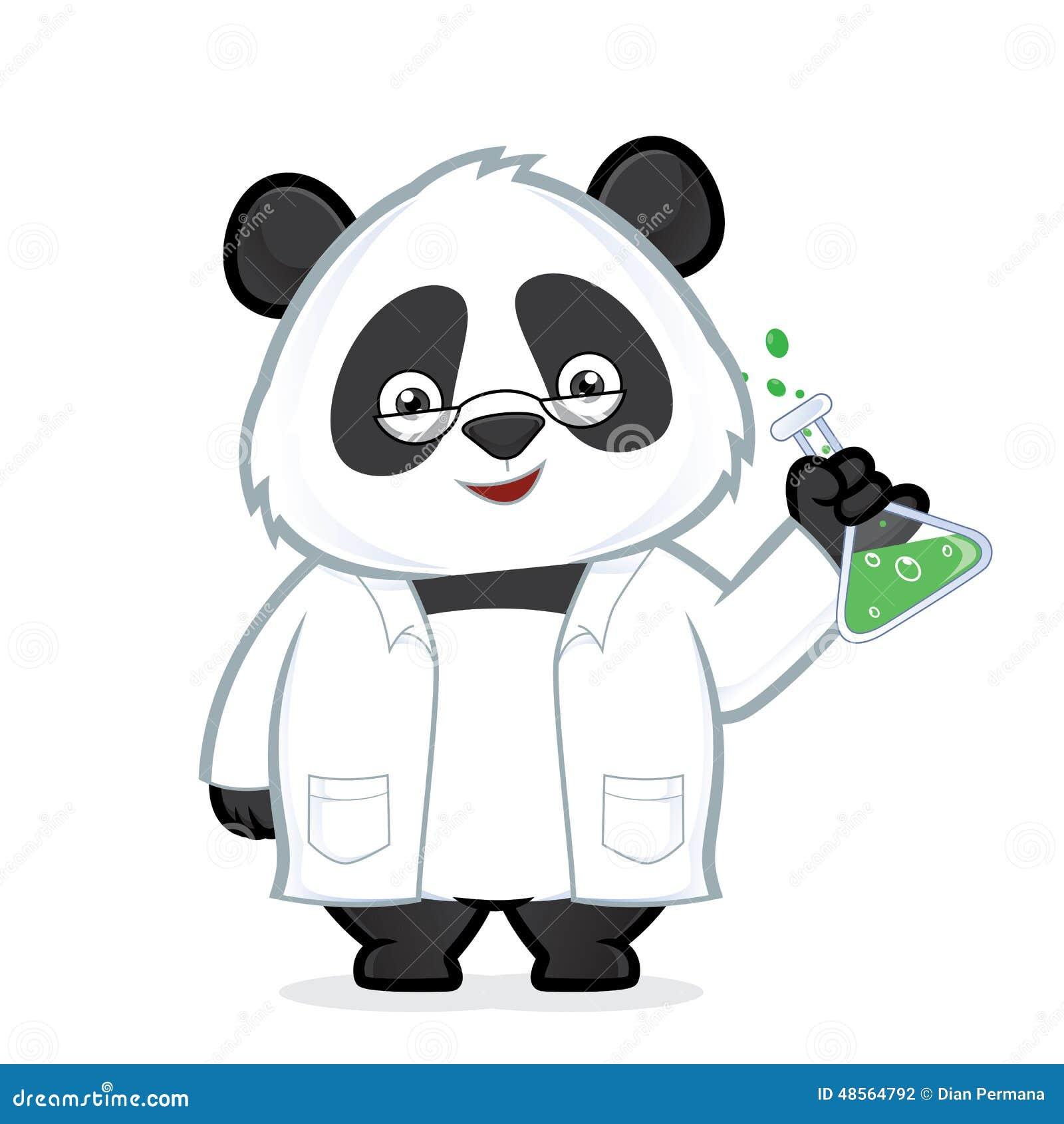 Professor Panda Stock Vector