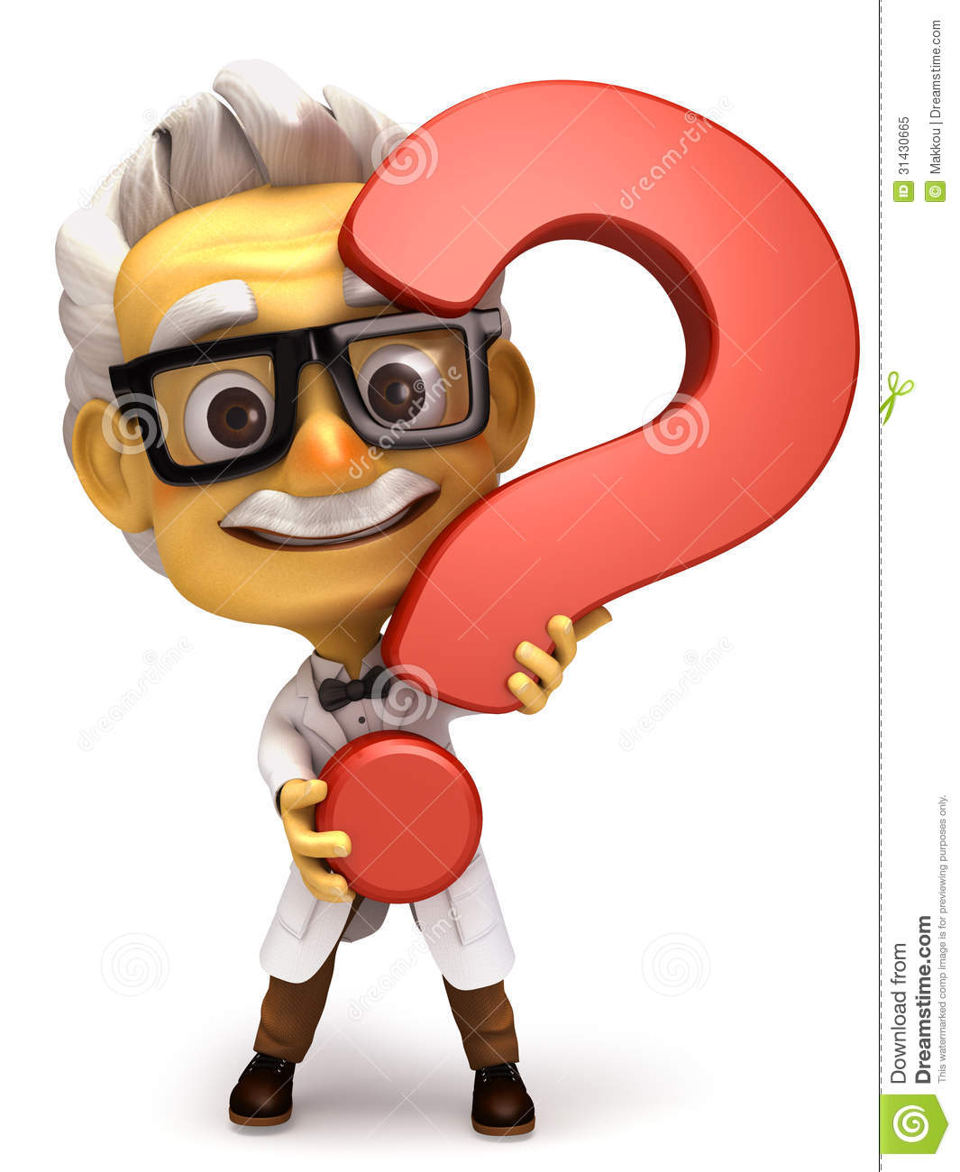 Professor With Question Mark Symbol Royalty Free Stock Photo - Image ...