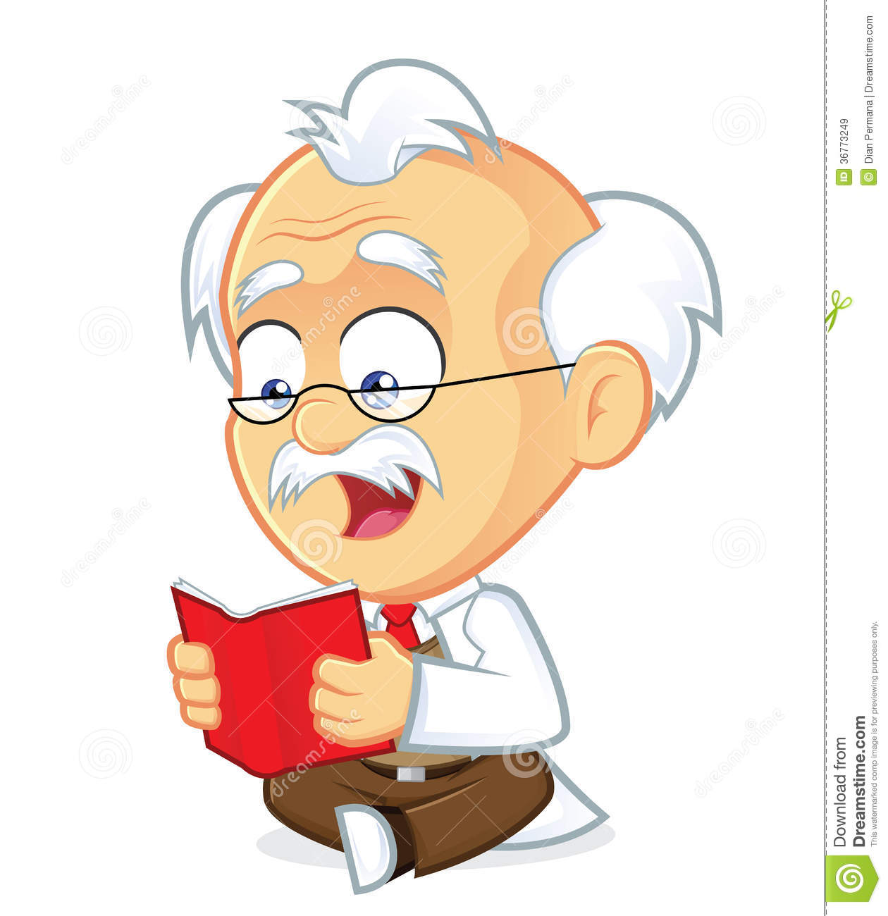 Cartoon Characters Reader : Professor reading a book royalty free stock images image