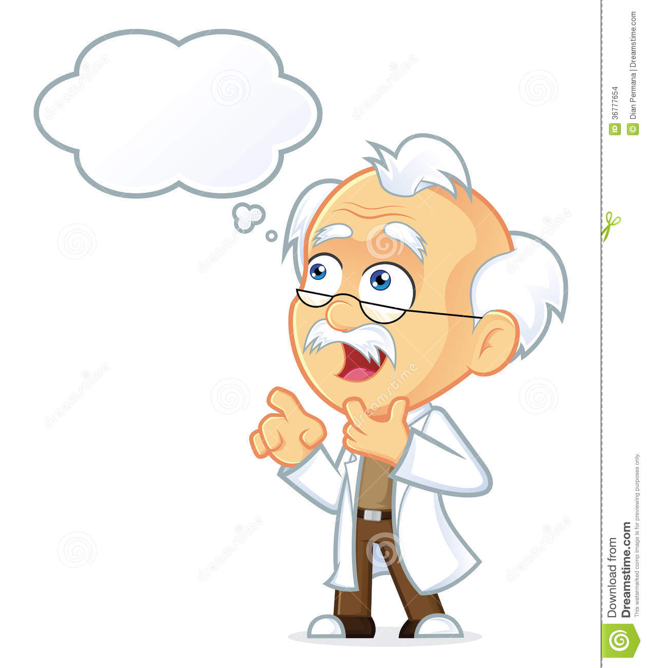 Professor Thinking With White Bubble Stock Images - Image: 36777654