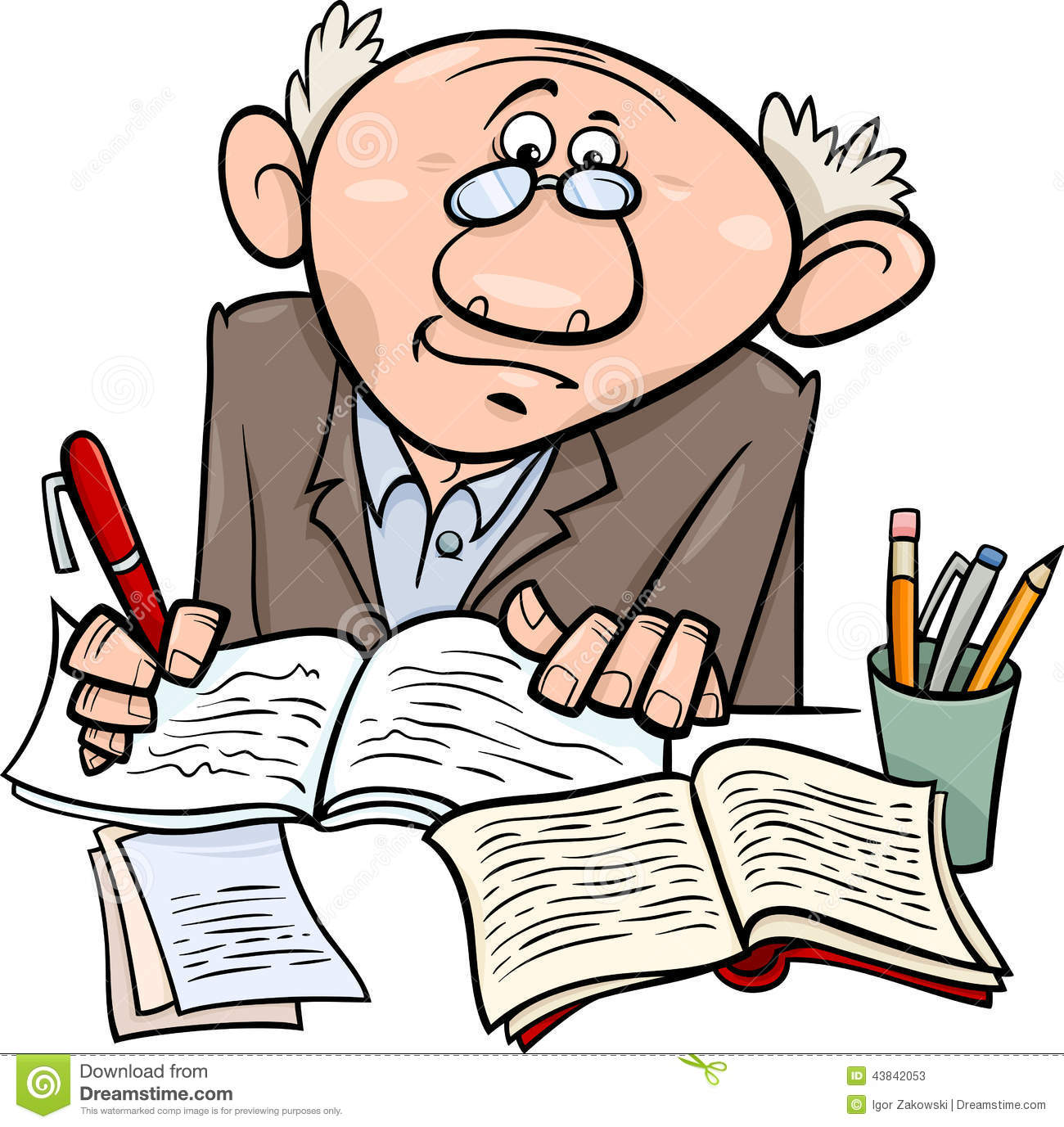 Image result for a cartoon picture of a writer