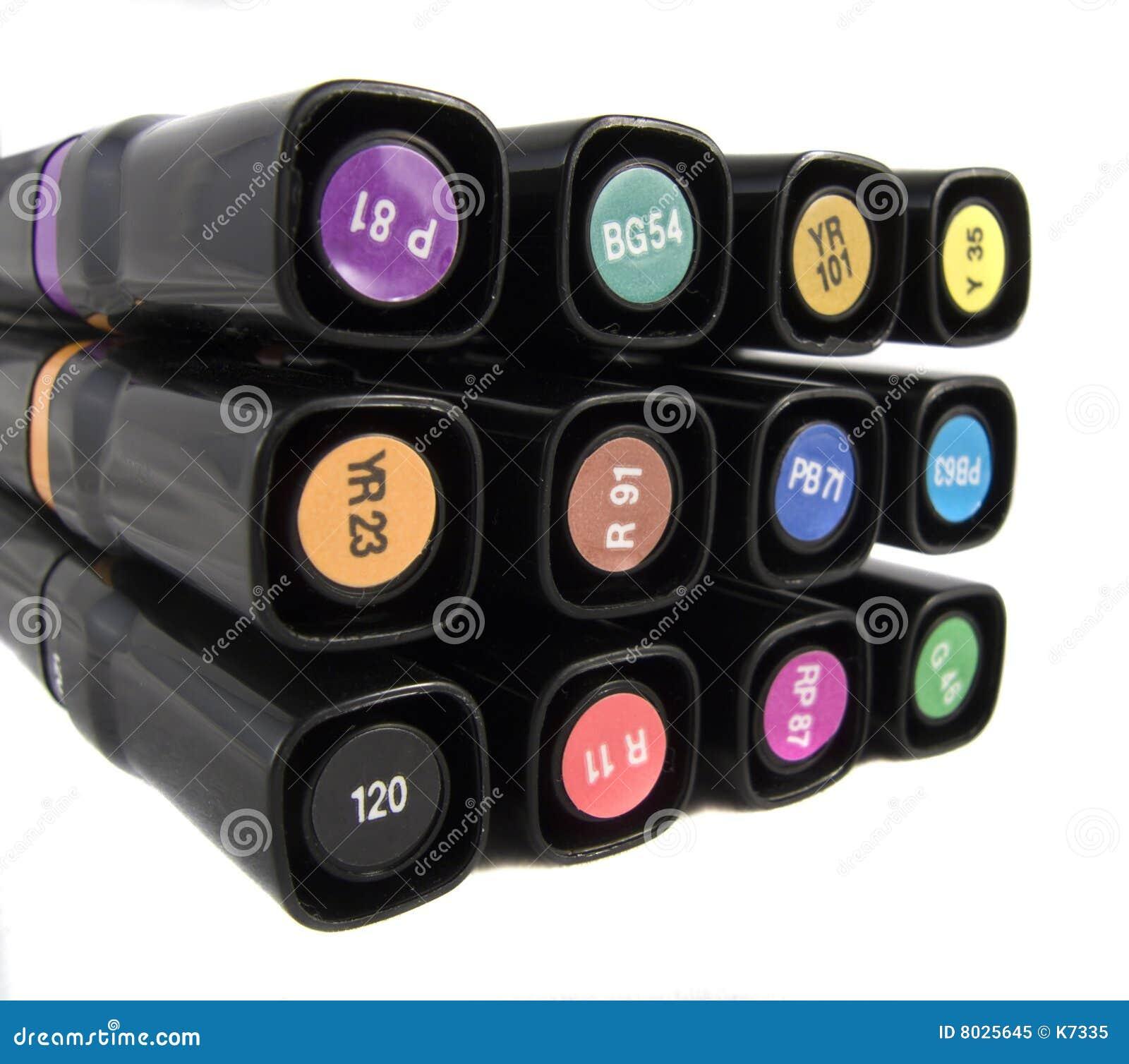 Proffessional designer 39 s marker pens royalty free stock for Designer s image