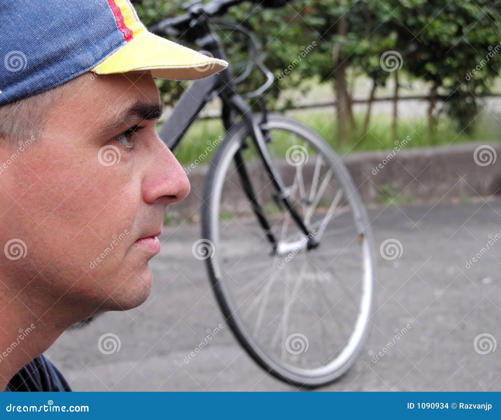 Profiel van een fietser