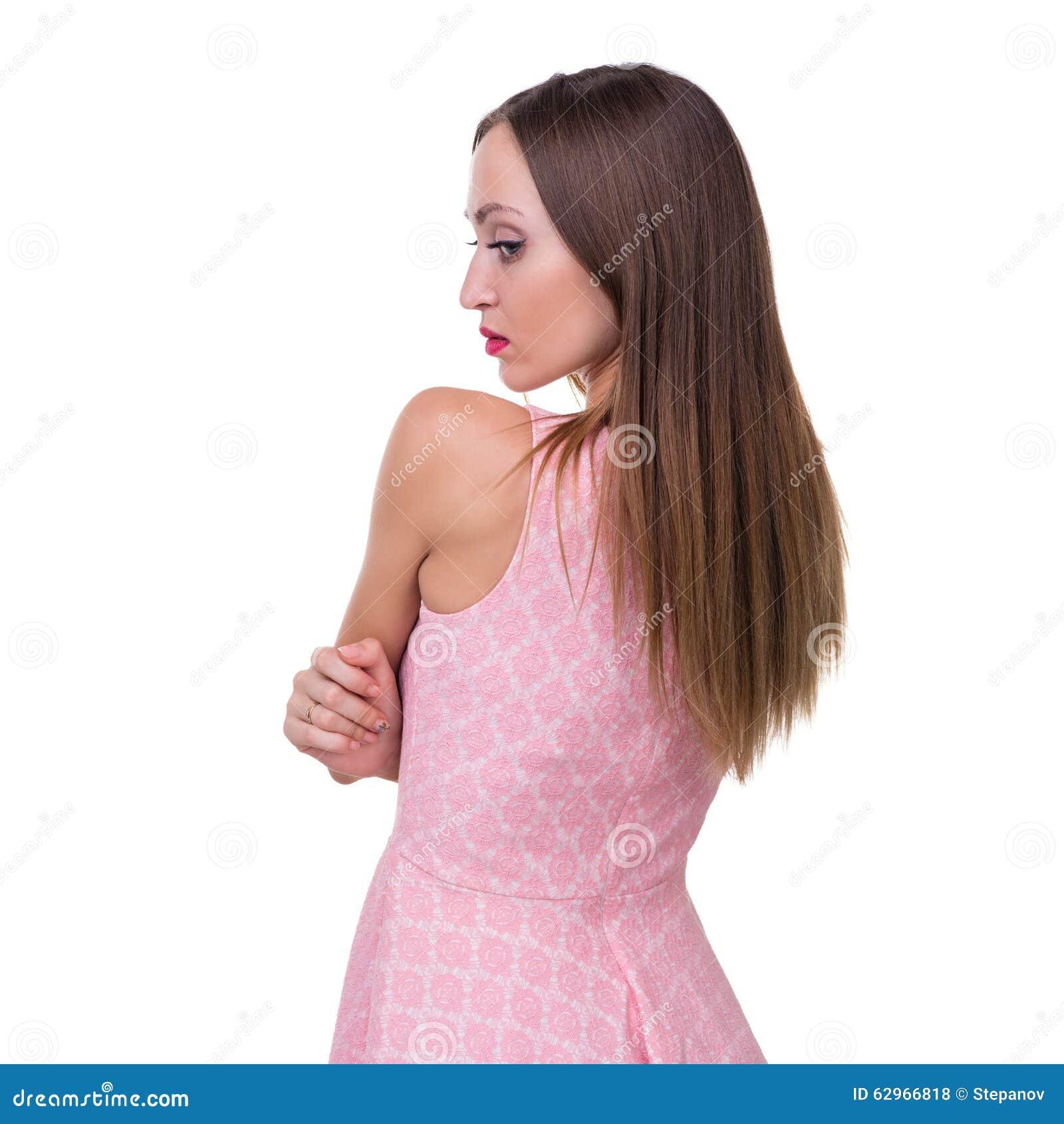 Profiel zijportret van mooie jonge vrouw