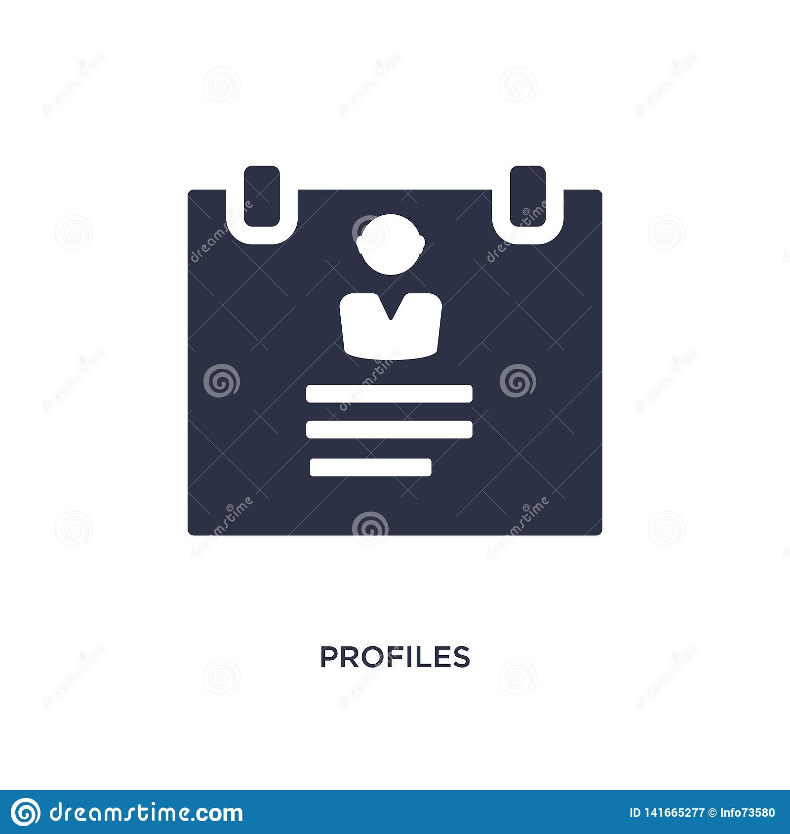 Profielenpictogram op witte achtergrond Eenvoudige elementenillustratie van personeelsconcept