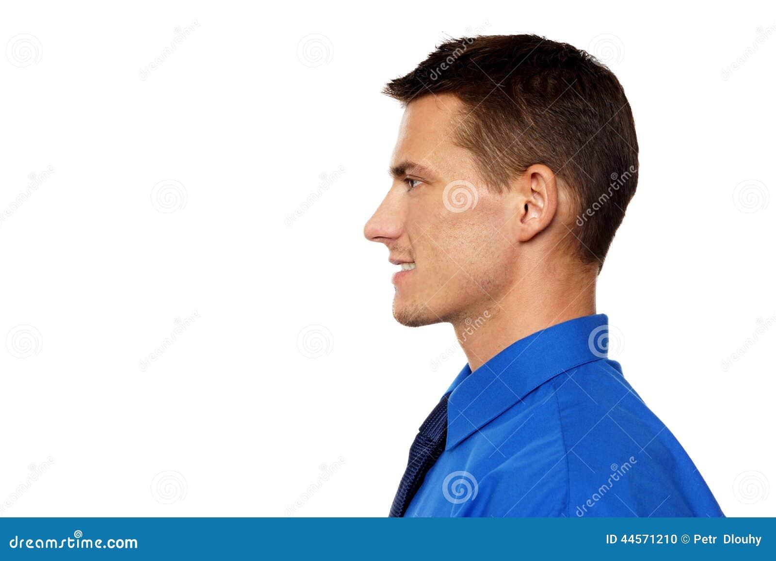 Profil av den unga mannen