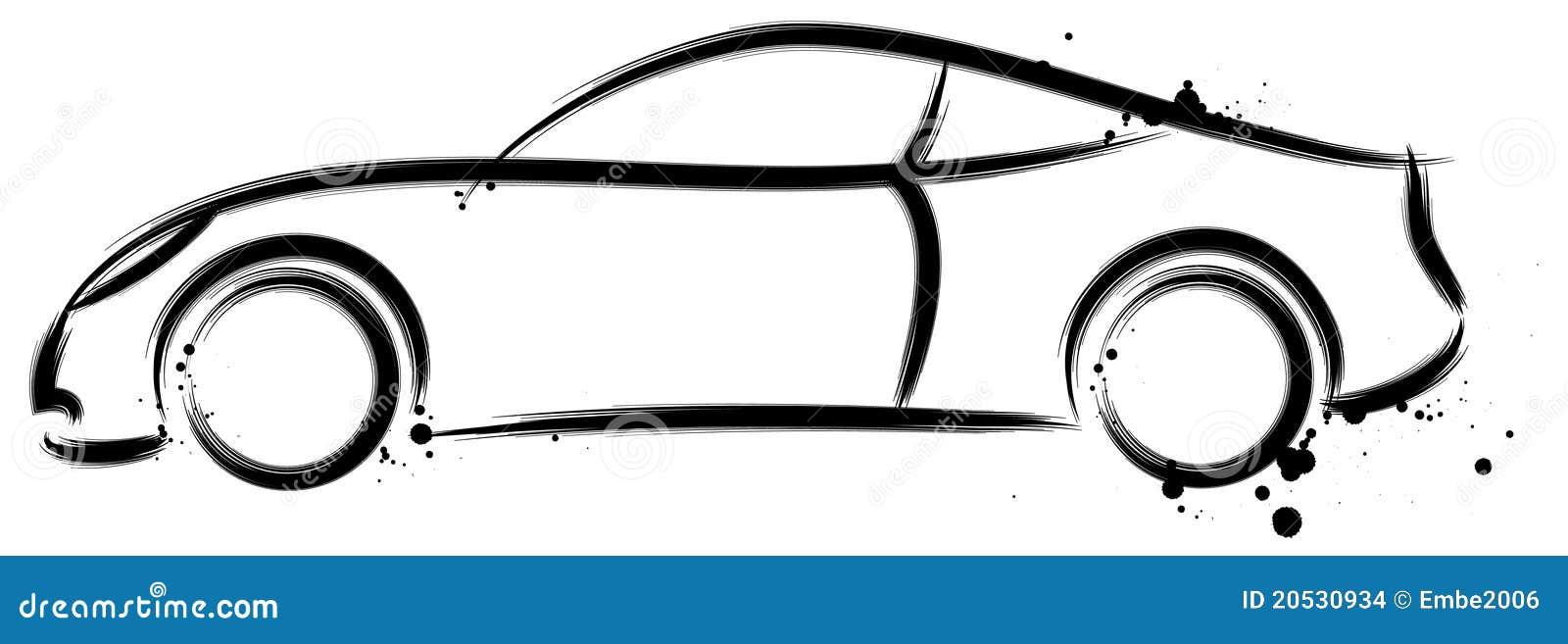 Profil de voiture de sport illustration de vecteur illustration du conception 20530934 - Voiture profil dessin ...