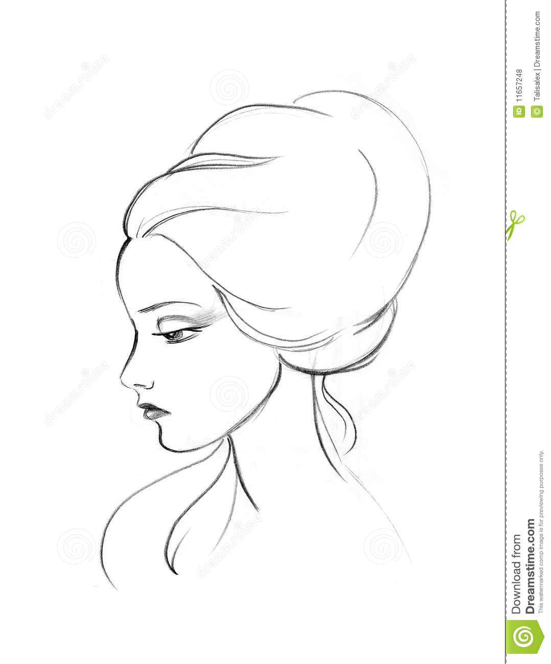 Line Drawing Face Profile : Profil der dame lizenzfreie stockfotos bild