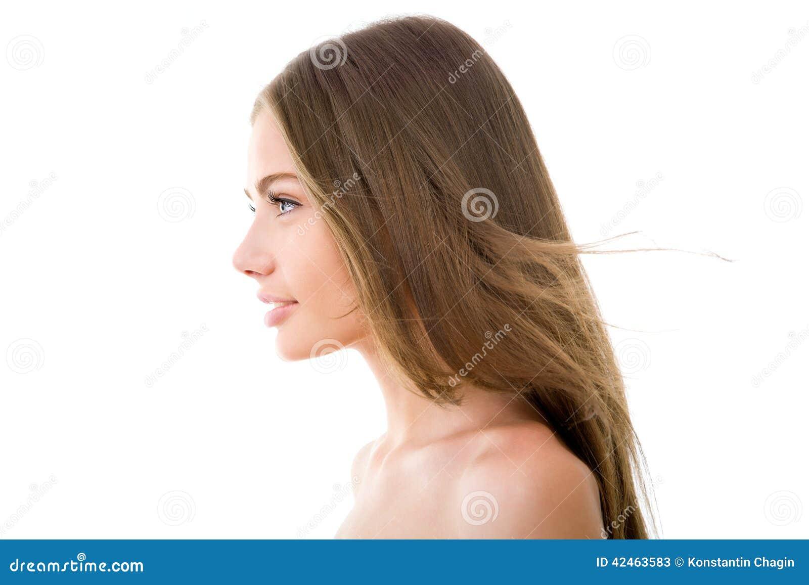 Profil einer schönen Frau