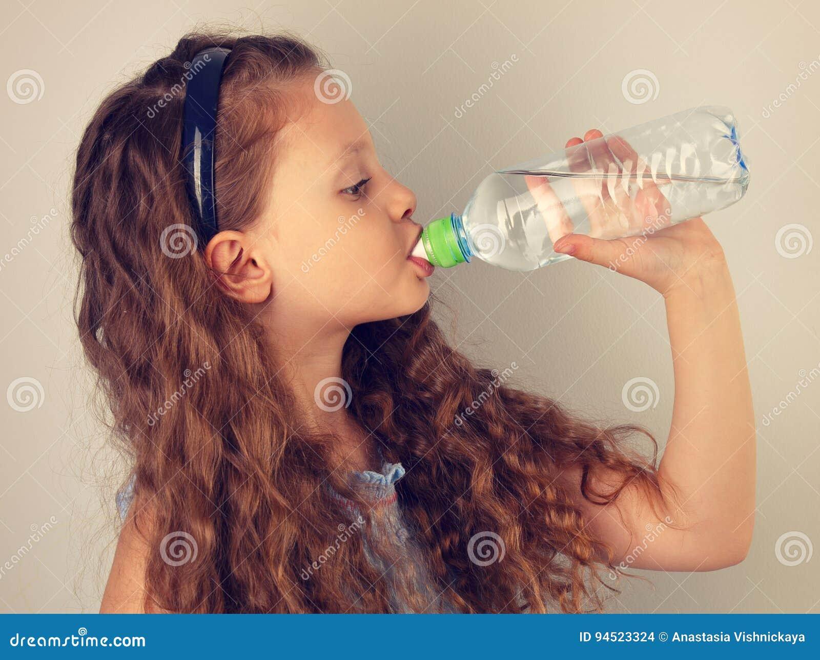 Profil Lächelnden Drin Mädchen Der Schönen Langen Gelockten Frisur