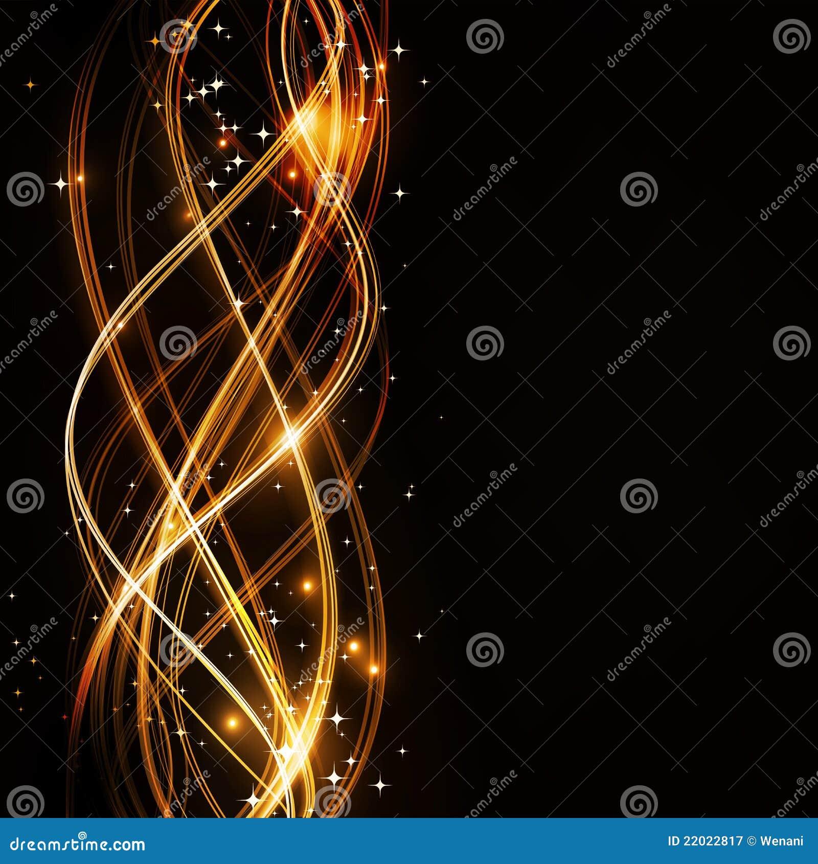 Profil onduleux abstrait avec des étoiles