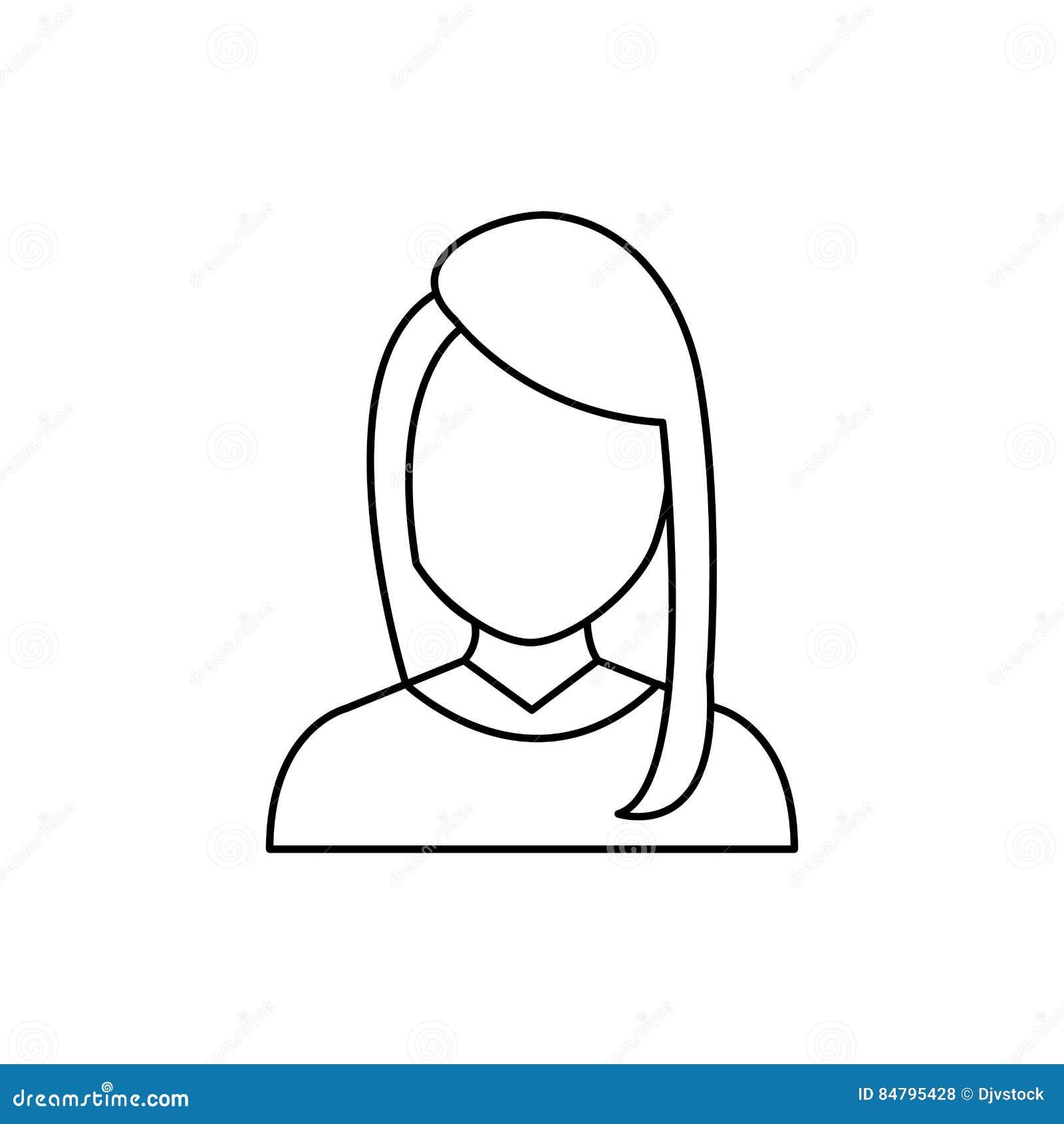 Profil Sans Visage De Femme Illustration Stock