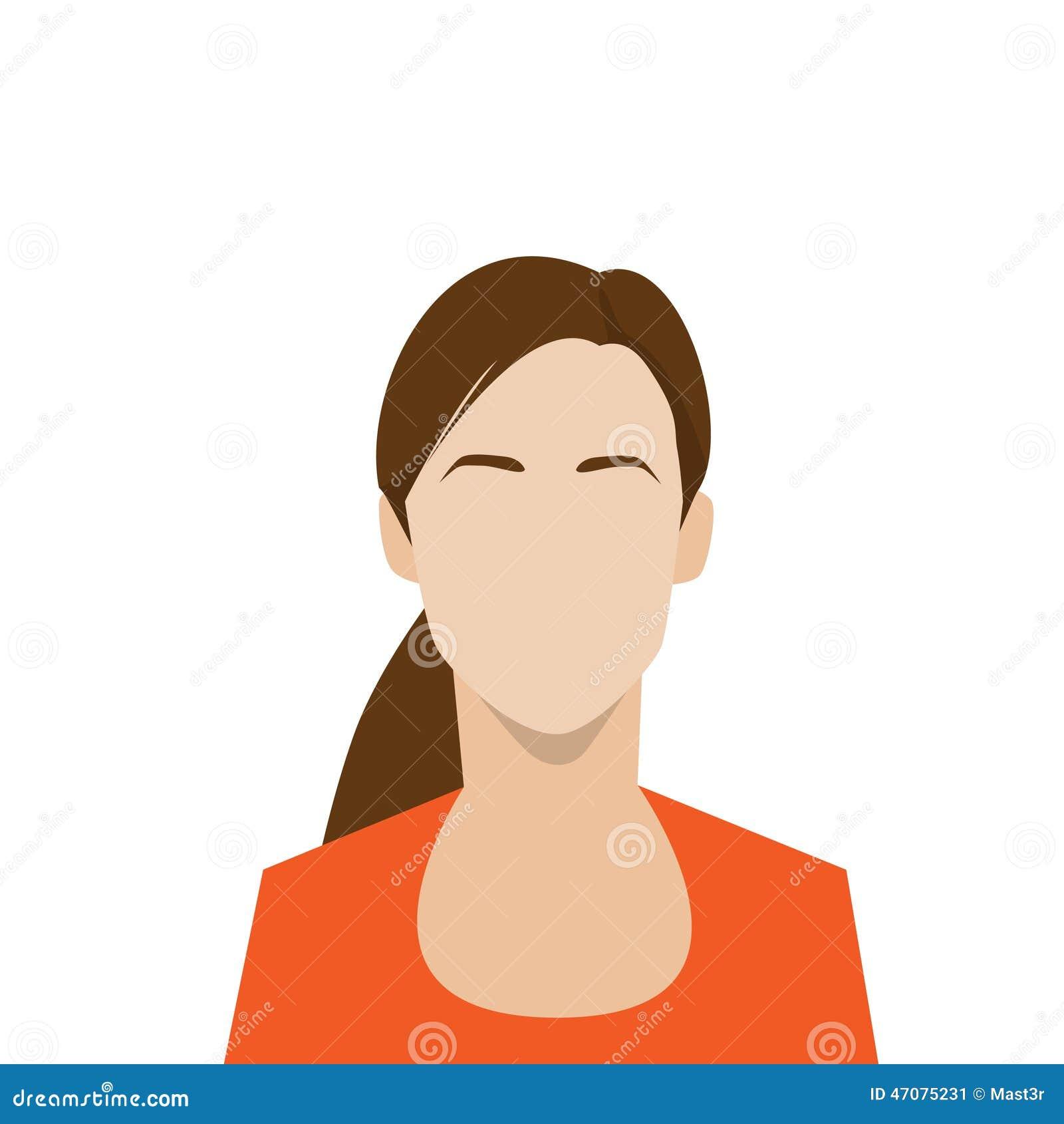 Avatar Woman: Profile Icon Female Avatar Woman Portrait Stock Vector