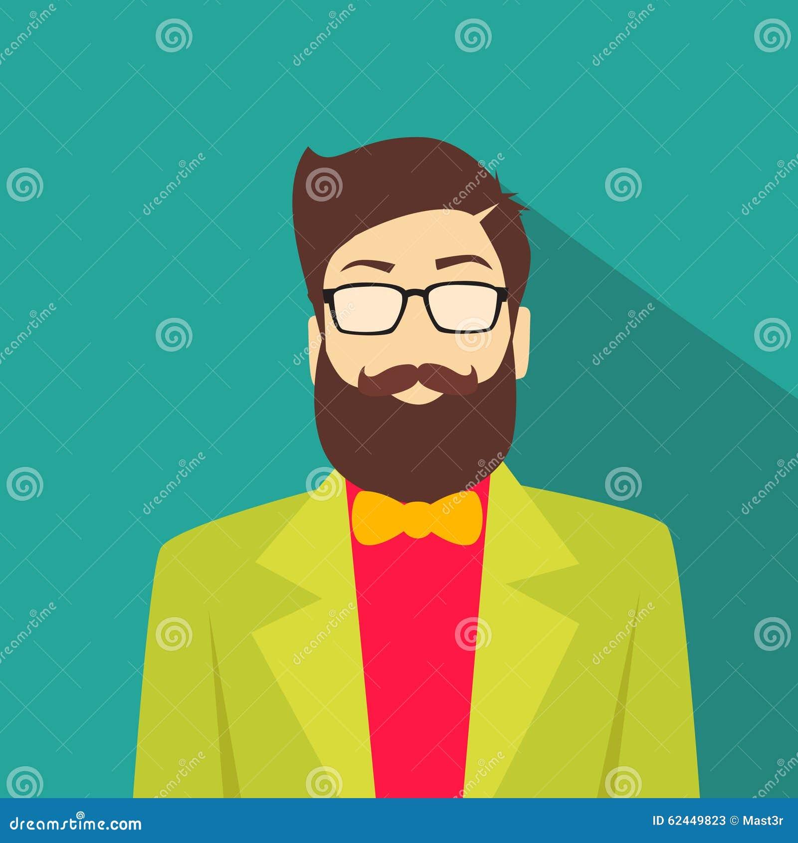 Profile Avatar: Profile Icon Male Avatar Man Hipster Style Fashion Stock