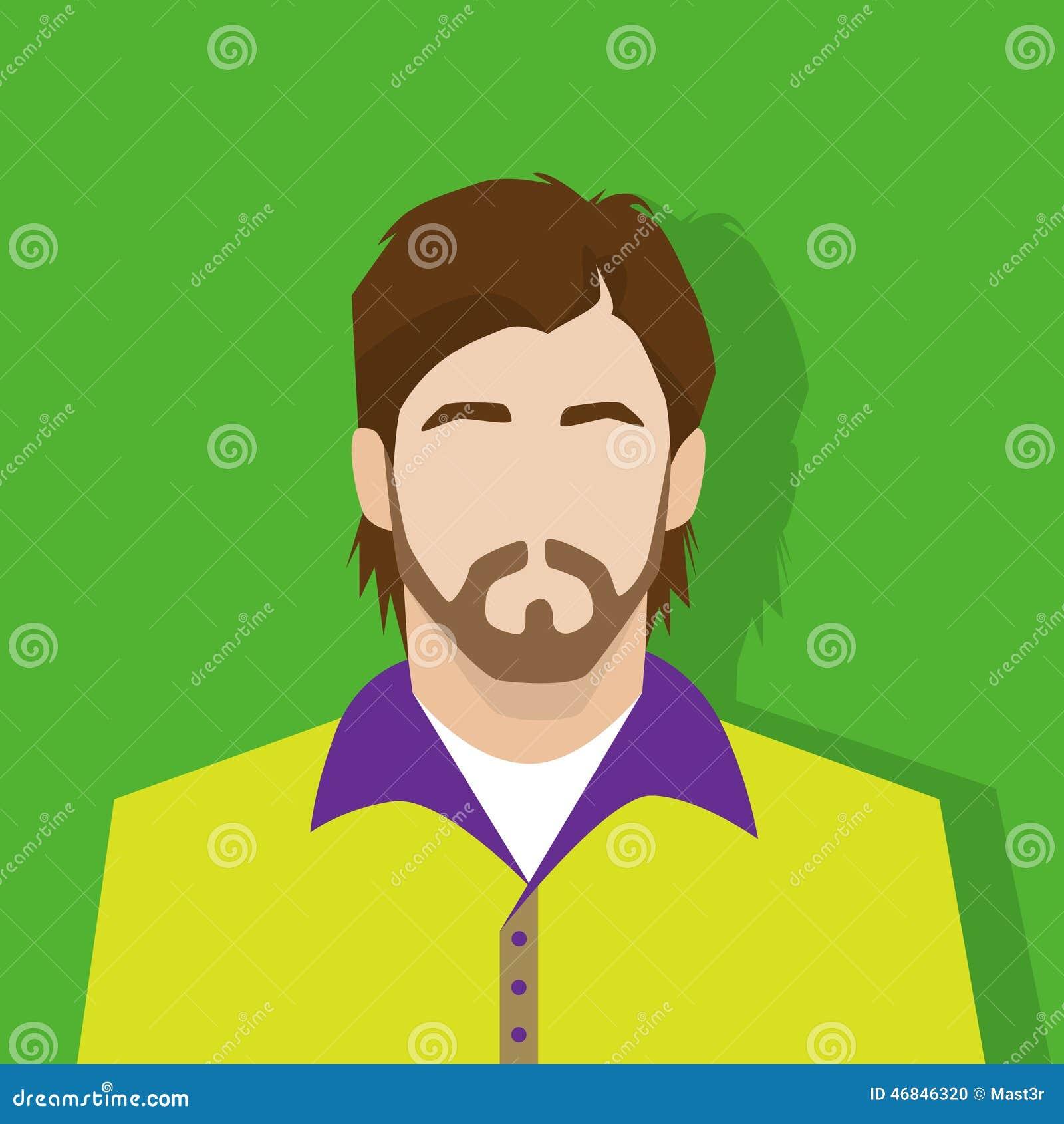 Profile Avatar: Profile Icon Male Avatar Portrait Casual Person Vector