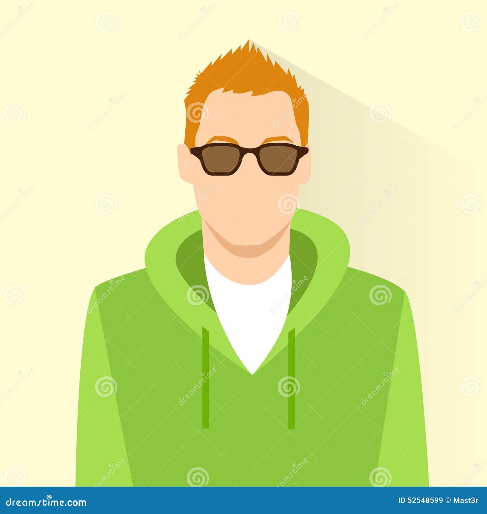 Developer Avatar: Profile Icon Male Wear Glasses Avatar Portrait Stock