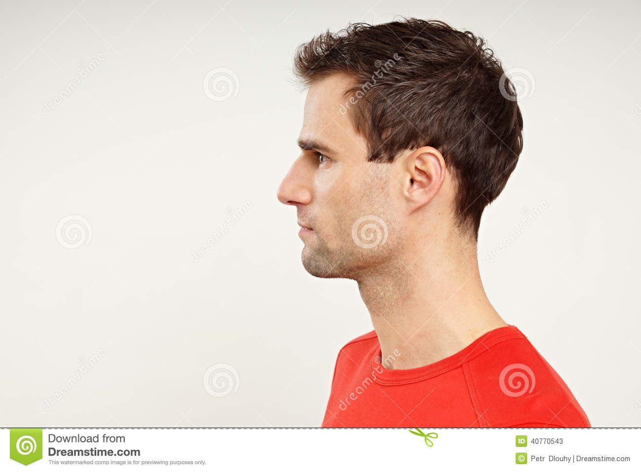 profile of man stock image image of write adult profile