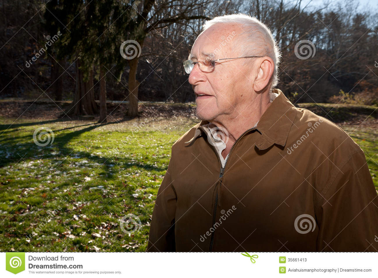 Profile Of An Old Man Stock Photos Image 35661413