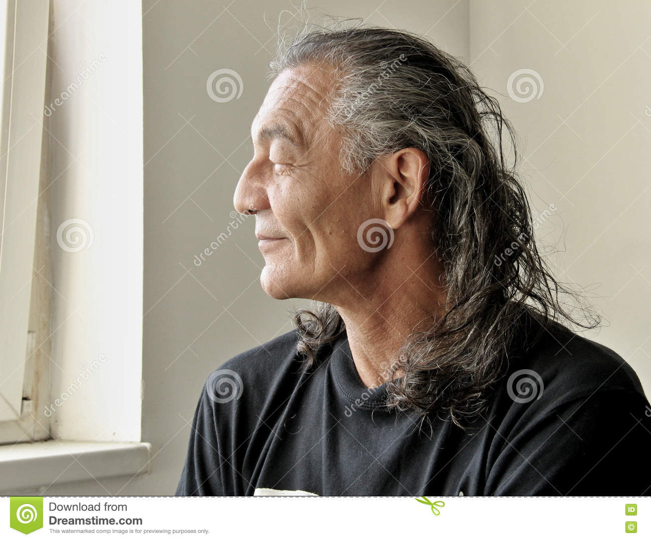 Profile of the older man
