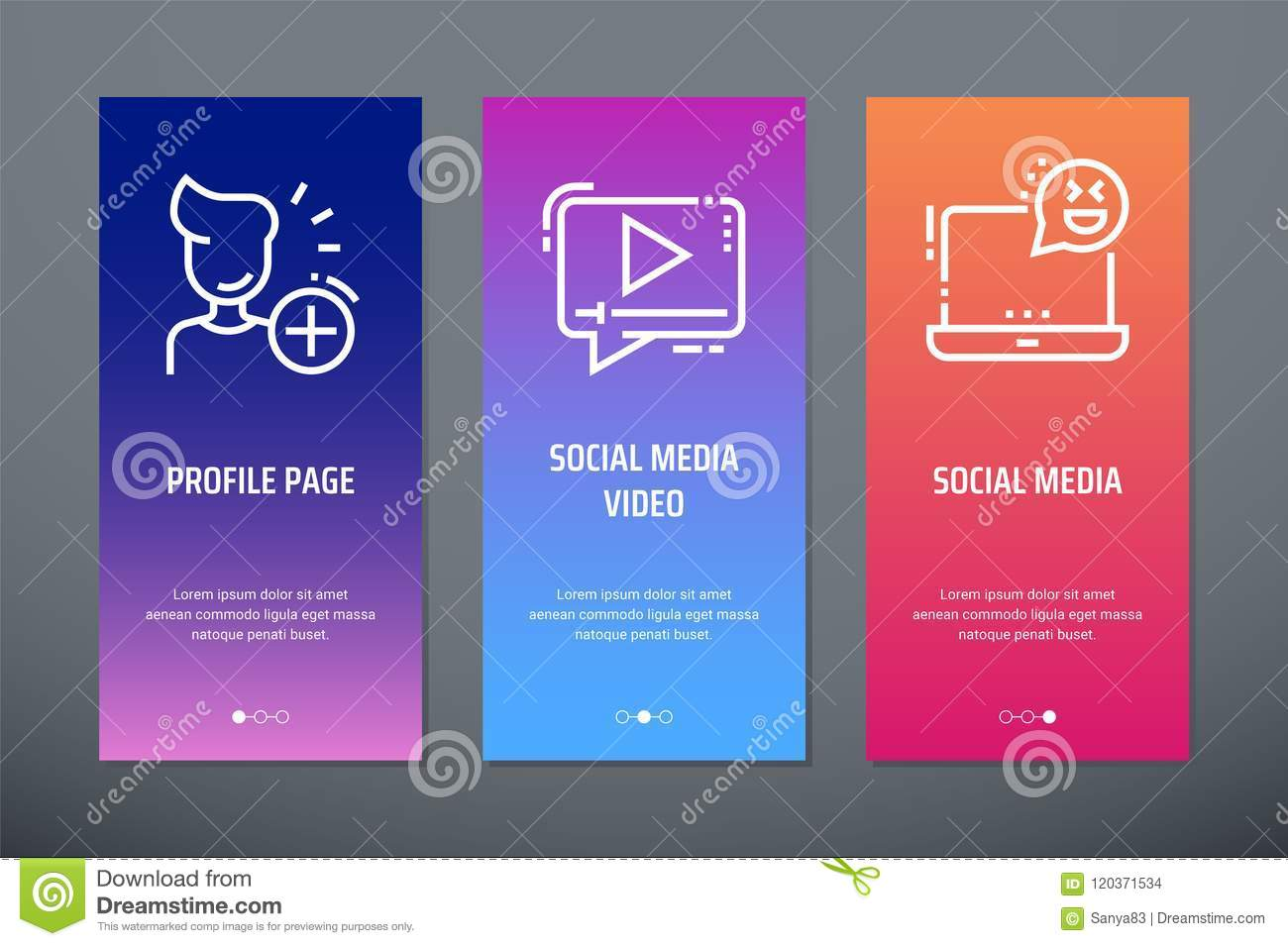 Profile Page Social Media Video Social Media Vertical Cards With