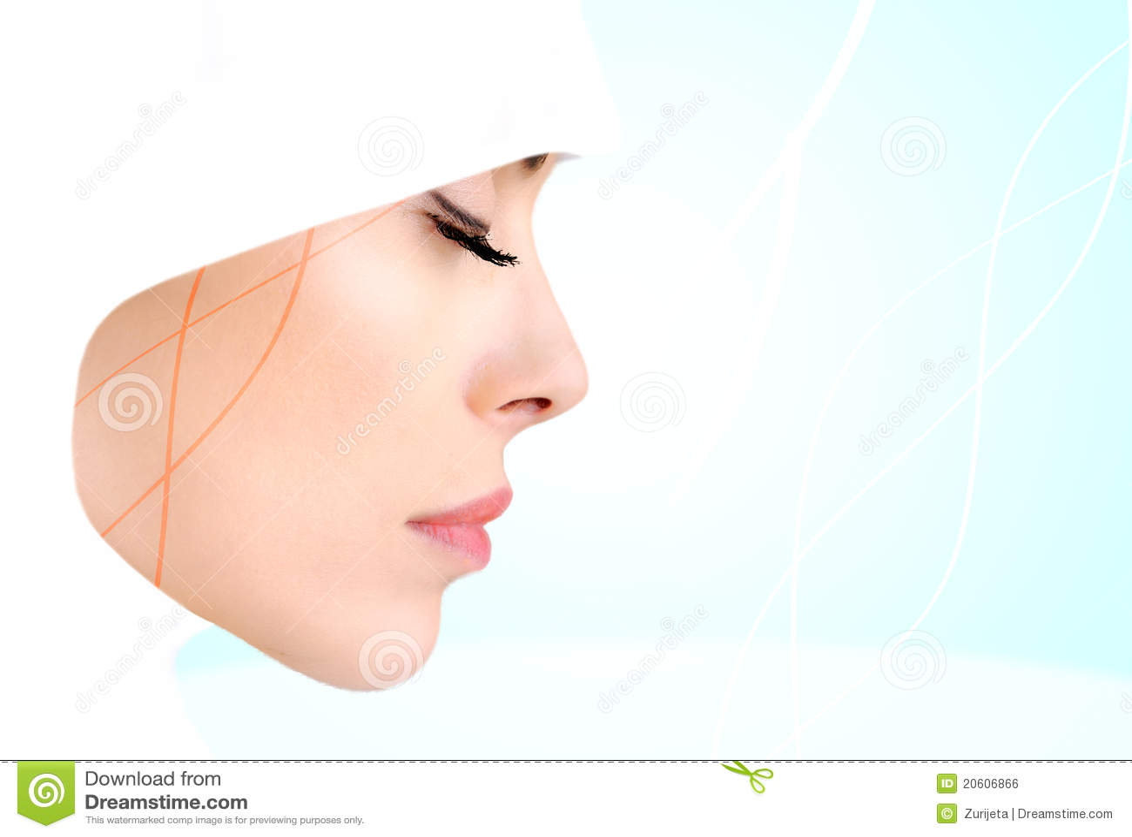 Profile photo of sensual beauty Muslim woman