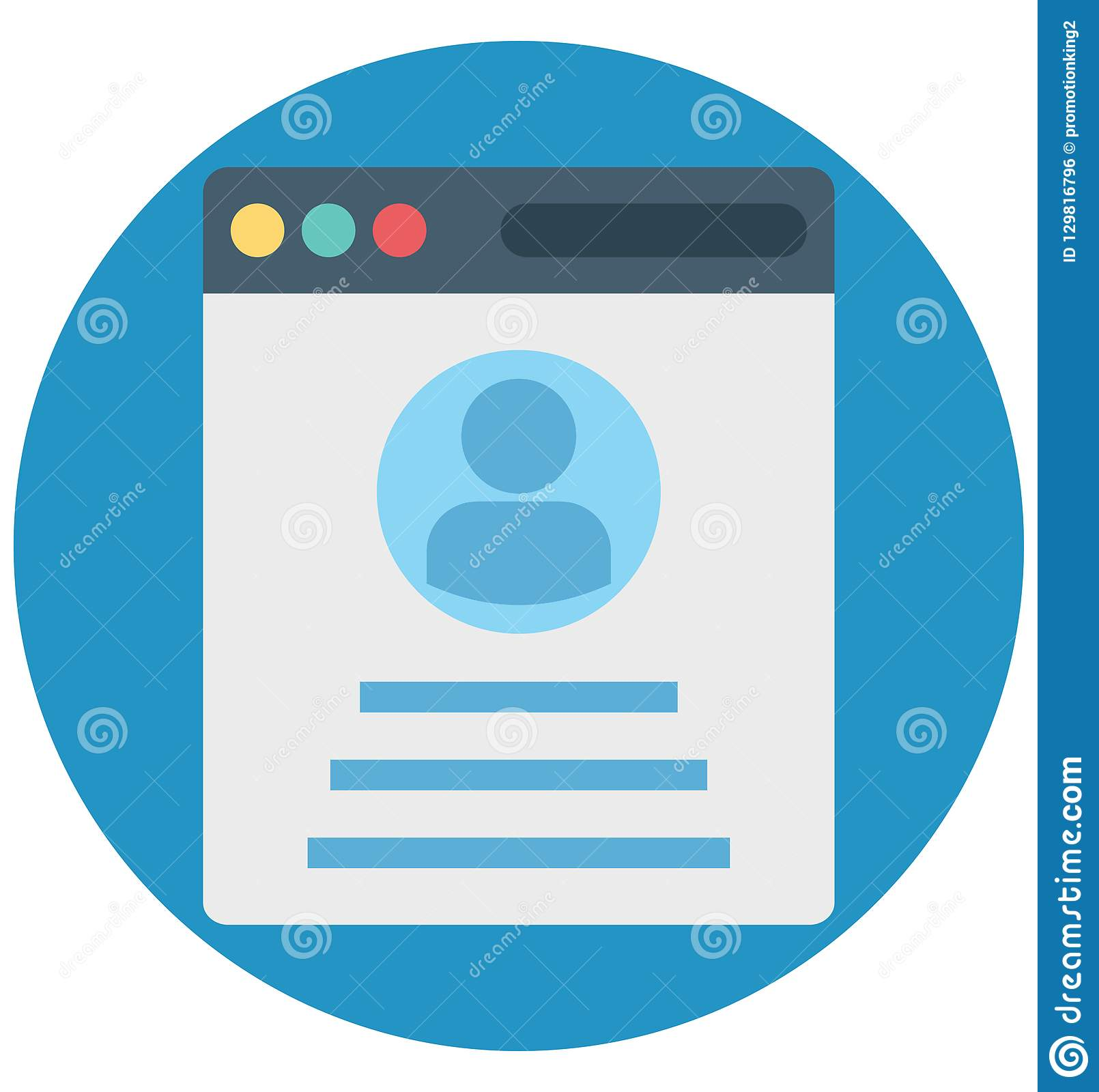Profile Popup, Web Profile, Isolated Vector Icons That Can
