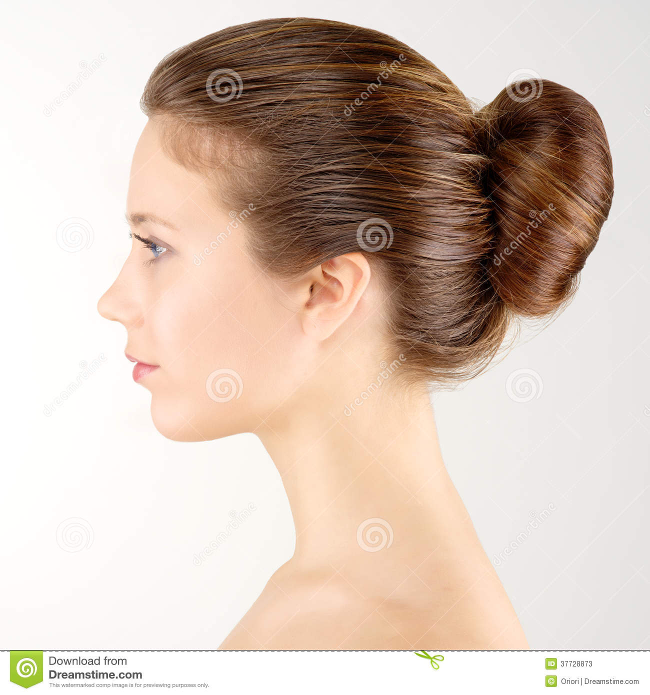 Profile portrait woman stock image. Image of white, girl ...