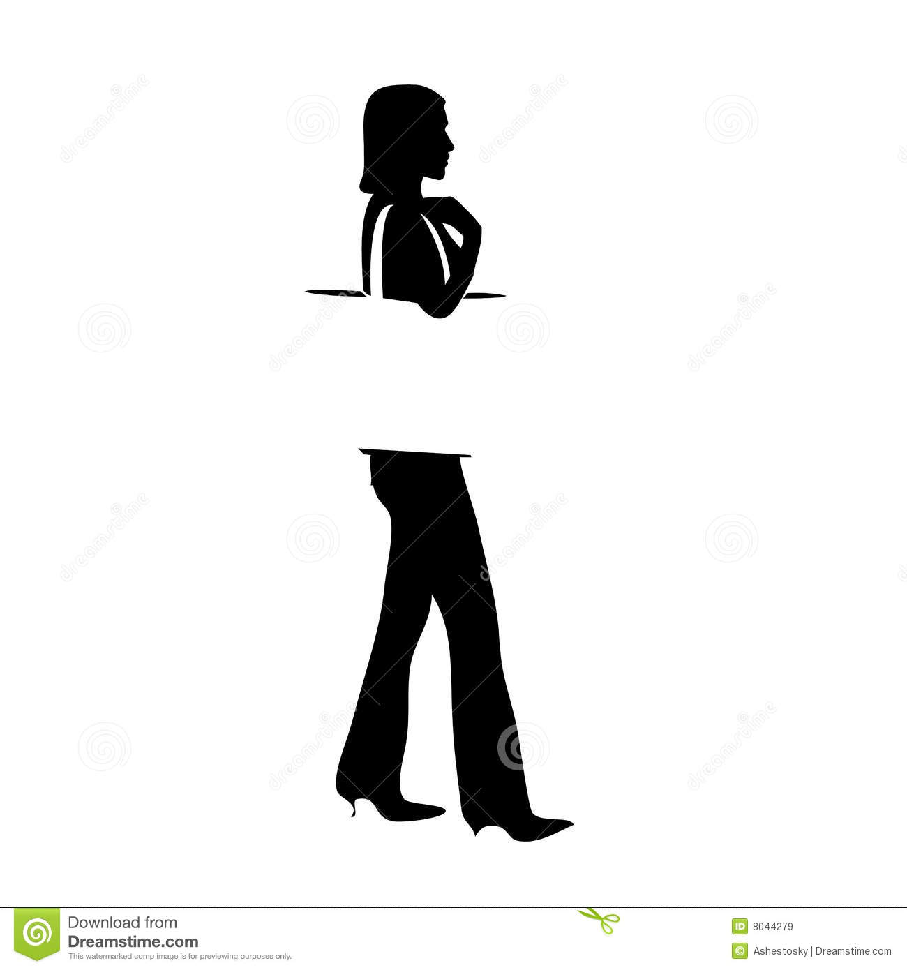 Profile Shopping Girl Silhouette Royalty Free Stock Images ...