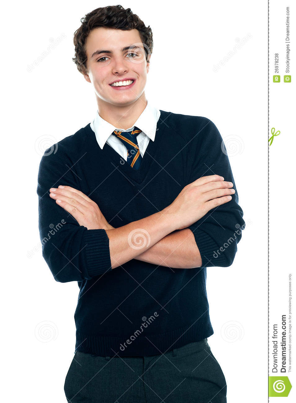 Profile Shot Of A School Going Teenager Stock Photo