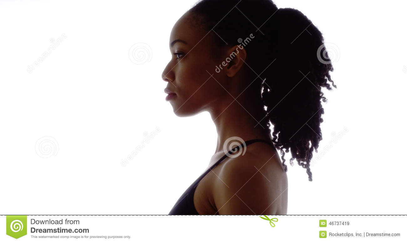 Profile of strong black woman