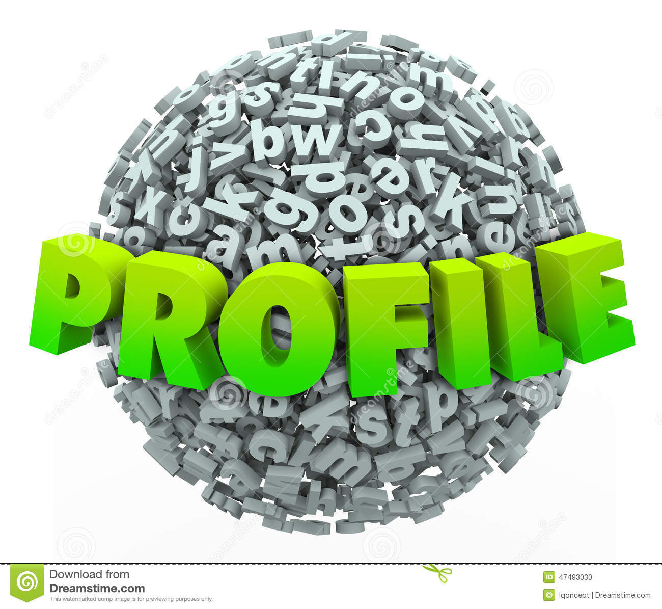 Profile Word Letter Ball Sphere Update Personal