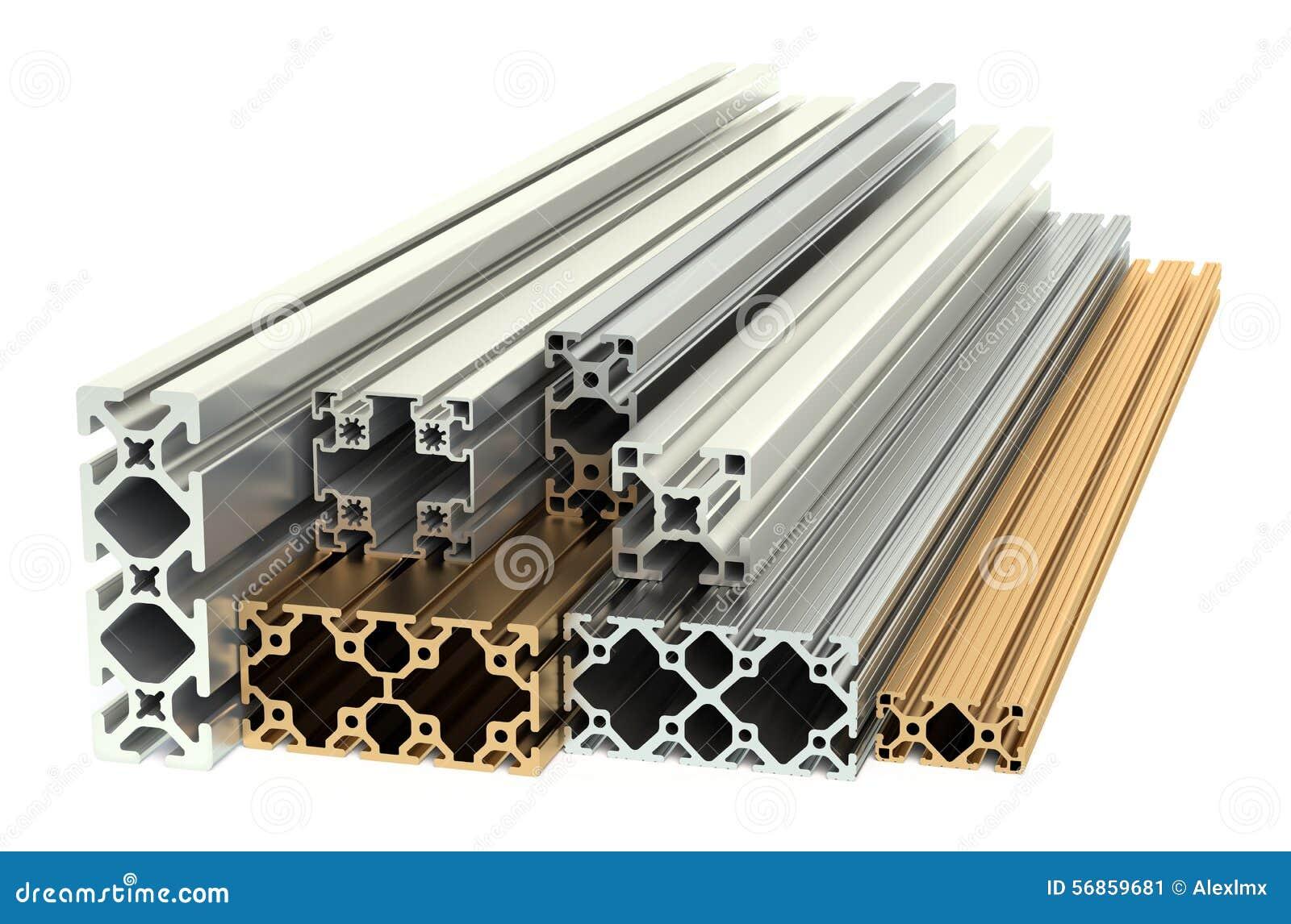 Profili Di Alluminio E Profili Di Rame Illustrazione Di Stock