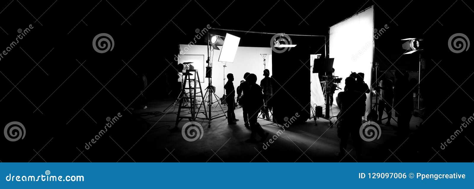 Profili le immagini di video produzione dietro le scene
