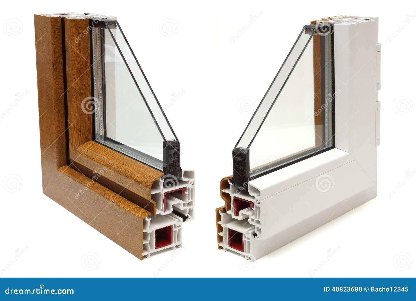 Profilo di plastica delle finestre